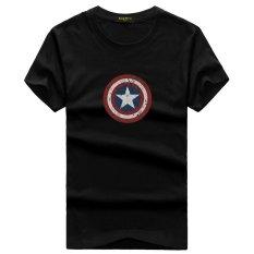 Buy Good Quality Short Sleeve Cotton Captain American Shield Hero Fashion T Shirt Black Online China