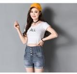 Cheapest Goouting New Korean Slim Student Curled Jeans Thin High Waist Denim Shorts Women Hot Pants Intl Online