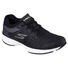 Sale Skechers Gowalk Sport Lace Up Bkw Black Singapore Cheap