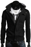 Gracefulvara Men S Slim Fit Sweatshirt Zipper Hoodie Casual Hooded Jacket Coat Outwear Black Online