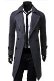 Deals For Gracefulvara Men S Slim Fit Trench Coat Winter Long Jacket Double Breasted Overcoat Grey