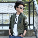 Buy Grandwish Kids Bomber Jackets Patches Design Coat Slim 6T 16T Army Green Intl Oem Online