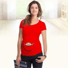 Compare Price Grandwish Women Maternity Cotton T Shirts Cartoon Pattern Printing S 2Xl Red Oem On China