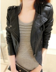 Buy Grandwish Women Pu Leather Coat Motor Jacket Short Coat Slim S 3Xl Black Oem Cheap