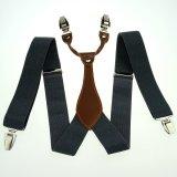 Buy Grey Men S Adjustable Clip On Elastic Suspenders Solid Women S Braces Bd608 Oem