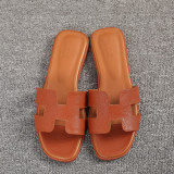 Compare Fashion Crystal Female Outerwear Beach Sandals New Style Slippers H Brown Embossed Leather Prices