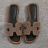 Fashion Crystal Female Outerwear Beach Sandals New Style Slippers H Gold Czech Crystal Shopping
