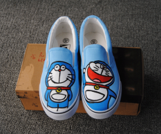 Best Price Korean Si Gato Negro Fish Slip On Ladies Shoes Canvas Sneakers Light Blue Light Blue