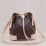 Recent European And American New Printed Versatile Backpack Bags Shoes Coffee With White Rice