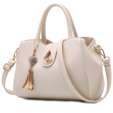 Women S Leather Shoulder Bag Beige Beige Cheap