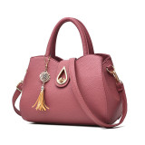 Price Women S Leather Shoulder Bag Dark Pink Dark Pink On China