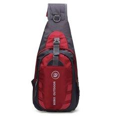 Discount Handbags Men Women Waterproof Sport Chest Pouch Bag Shoulder Sling Bag Nylon Running Outdoor Cross Body Bags Red Oem