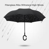 Sale Hands Free Inverted Folding Umbrella Windproof C Hook Umbrella Double Layer Intl Oem