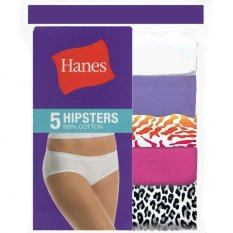 Review Hanes Women Cotton Hipster Panties 5 Piece Pack Assorted Singapore