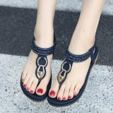 Hang Qiao Bohemia Flat Sandals Flip Flops Shoes Gladiator Women Shoes Blue Intl In Stock