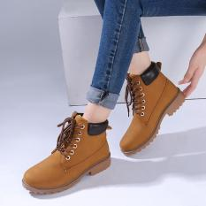 Discount Hang Qiao Fashion Women Ankle Martin Boots Military Combat Shoes Yellow Intl Hang Qiao On China
