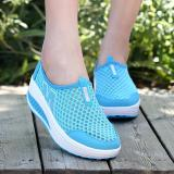 Hang Qiao New Height Increasing Shoes Casual Women Wedges Shoes Blue Intl Coupon
