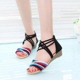 Hang Qiao Wedge Heel Sandals Roman Sandals Gladiator Sandals Black Intl For Sale