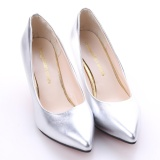 Get The Best Price For Hanyu Korean Fashion Patent Leather Tip High Heels Shallow Mouth Shoes Occupation Women S Single Shoes Pumps Sliver Intl