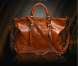 Where Can You Buy Hanyu Women Lady Fashion Vintage Pu Leather Simple Solid Big Shoulder Bag Tote Bag Brown Intl