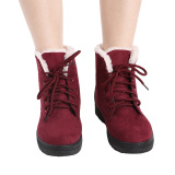 Hanyu Women S Snow Boots Martin Boots Outlets Waterproof Ladis Shoes Wine Red Promo Code