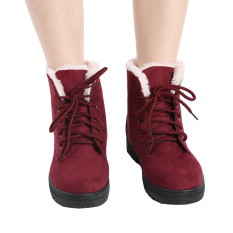 Wholesale Hanyu Women S Snow Boots Martin Boots Outlets Waterproof Ladis Shoes Wine Red