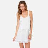 Haoduoyi2018 Fashion Chiffon New Style Lace Dress White Shop