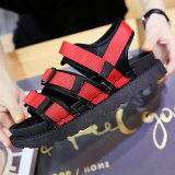 Where To Buy Women S Korean Style Peep Toe Flat Sandals Red Red