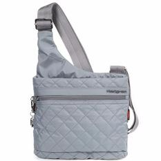 e59c8dc844e Hedgren women's bag Diamond Touch Liza shoulder sling crossbody bag quilted  Mouse Grey