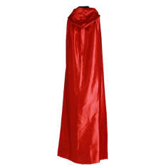 Cheaper Hengsong 170 Cm With Hood Cosplay Halloween Double Sided Big Cape Black Red