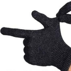 HengSong Fashion Capacitive Screen Touching Full-Finger Hand Warmer Gloves Black - intl