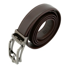 HengSong Men Automatic Buckle Leather Strap Belt Waist Band With Comfort Click Belt Brown - intl