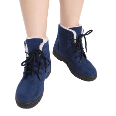 Purchase Hengsong Snow Boots Martin Boots Korean Factory Outlets Waterproof Ladies Shoes Navy Blue Intl