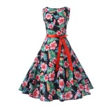 Review Hepburn Retro Style Slim Fit Slimming Sleeveless Dress On China