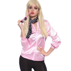 Price Comparisons Hequ Fall And Winter Selling Scarf Collar Women Jacket Tops Pink Intl
