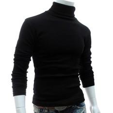 Hequ Men Slim Warm Cotton High Neck Pullover Jumper Sweater Top Turtleneck Sweaters - Intl By Hequ Trading.