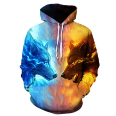 How To Get Hequ New Fashion Thin Cap Sweatshirts 3D Print The Wolf Men Hooded Hoodies Casual Tops Multicolor Intl