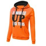 How To Buy Hequ Women Sweatshirt Casual Hoodies Long Sleeve Female Pullover Loose Tops Sweatshirts Women S Clothings Hoodies Orange Intl