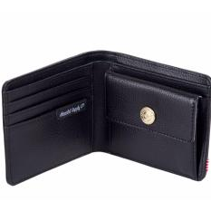 Sale Herschel Genuine Leather Wallet With Coin Pocket Hank Coin Wallet Black Pebbled Genuine Leather On Singapore