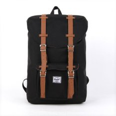 Purchase Herschel Supply Co Little America Black Leather Mid Volume