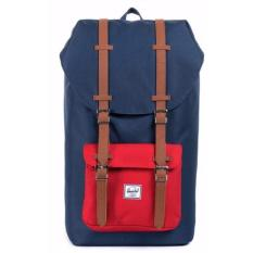Sale Herschel Supply Co Little America Full Volume Navy Red Backpack 25L Herschel Supply Co Cheap