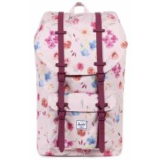 How Do I Get Herschel Supply Co Little America Full Volume Ruby Khaki Floral Backpack 25L