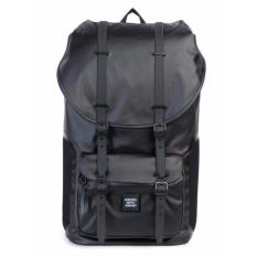 Herschel Supply Co Little America Full Volume Studio Poly Coat Black Backpack 25L Herschel Supply Co Discount