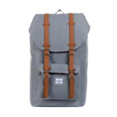 Compare Prices For Herschel Supply Co Little America Grey Leather Mid Volume