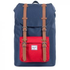 Sale Herschel Supply Co Little America Navyred Leather Full Volume Singapore Cheap