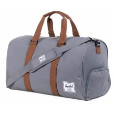 Great Deal Herschel Supply Co Novel Duffel Bag Grey Tan 42 5L