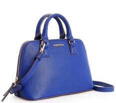 Price Hetu Mango Saffiano Cross Leather Effect Tote Shell Shoulder Bag Blue Intl Oem New