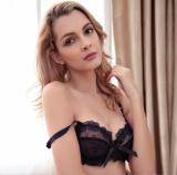 Hghisyu Hot 2017 Free Shipping Fashion Transparent Bra Set Plus Size Women Gauze Embroidery Ultra Thin Navy Blue Black Underwear 9160 Intl Best Price