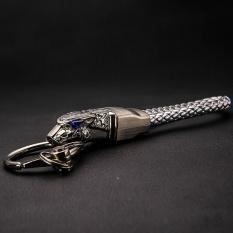 Top 10 High Grade Men Key Chain Keychains Rhinestones Leopard Shaped Car Key Ring Holder Jewelry Bag Pendant Gift Genuine Leather Rope Intl
