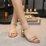 Compare Prices For Sequin Silver Summer A Line Sandals 6Cm Golden Sequins
